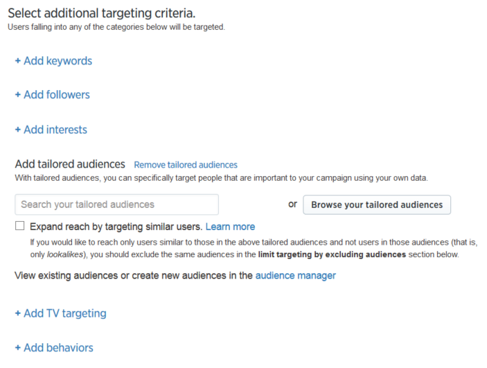 add tailored audiences twitter