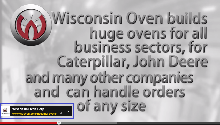wisconsin oven youtube ad