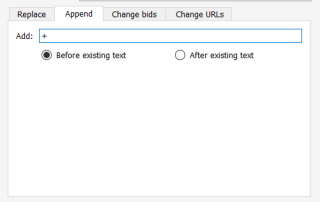 append text before existing text adwords editor