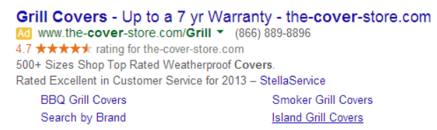 grill covers ppc ad
