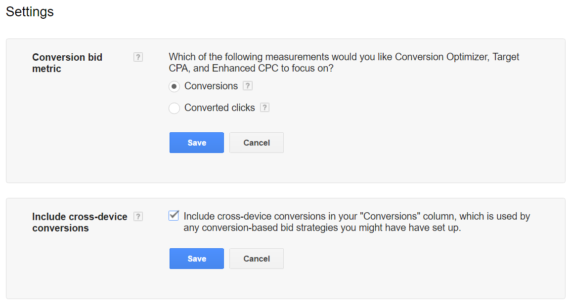 include cross device conversions adwords